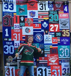 T-shirt Quilts Made Out of Sport Jerseys - Minnesota T-Shirt Quilts : quilts made from sports jerseys - Adamdwight.com
