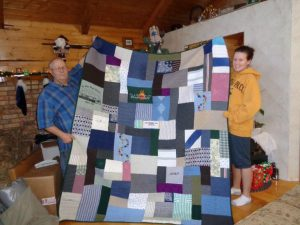 memory quilts from clothing